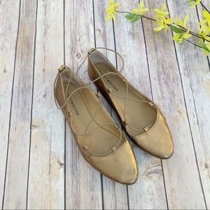 Lucky Brand Aviee Lace Flats Old Bronze 10M